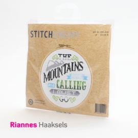 Borduurpakket Mountain - 15 cm