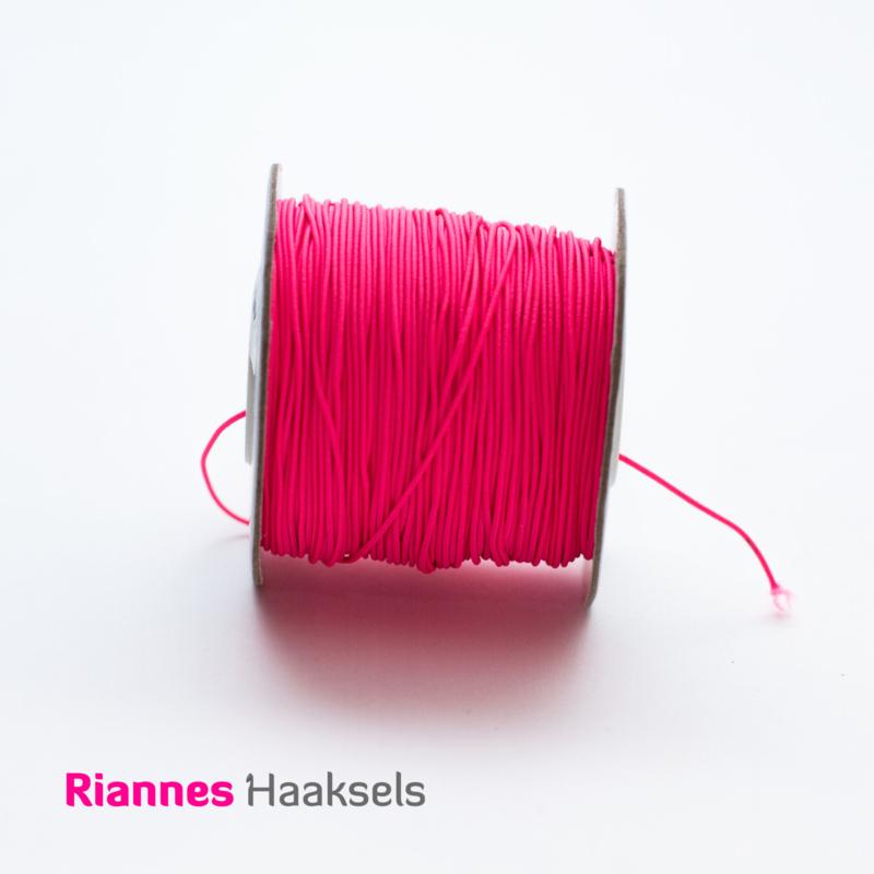 Elastiek Fluor roze - 53042
