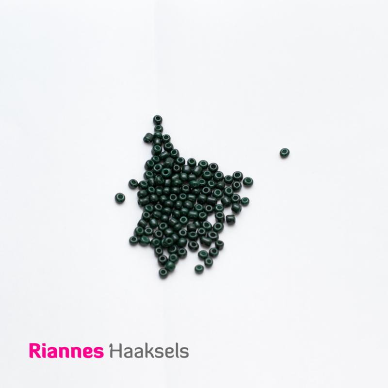 Rocailles 4 mm Donker groen - 161221