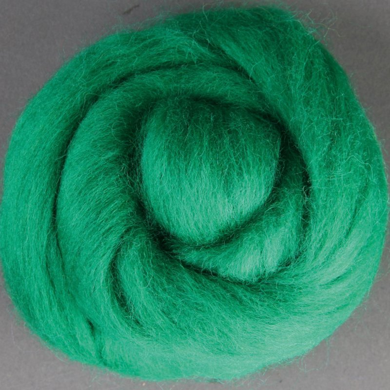 Lontwol Corriedale Sliver - Green