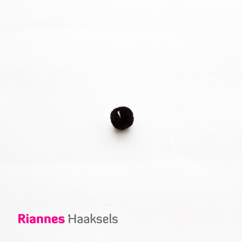 Mini pompon zwart - 170326