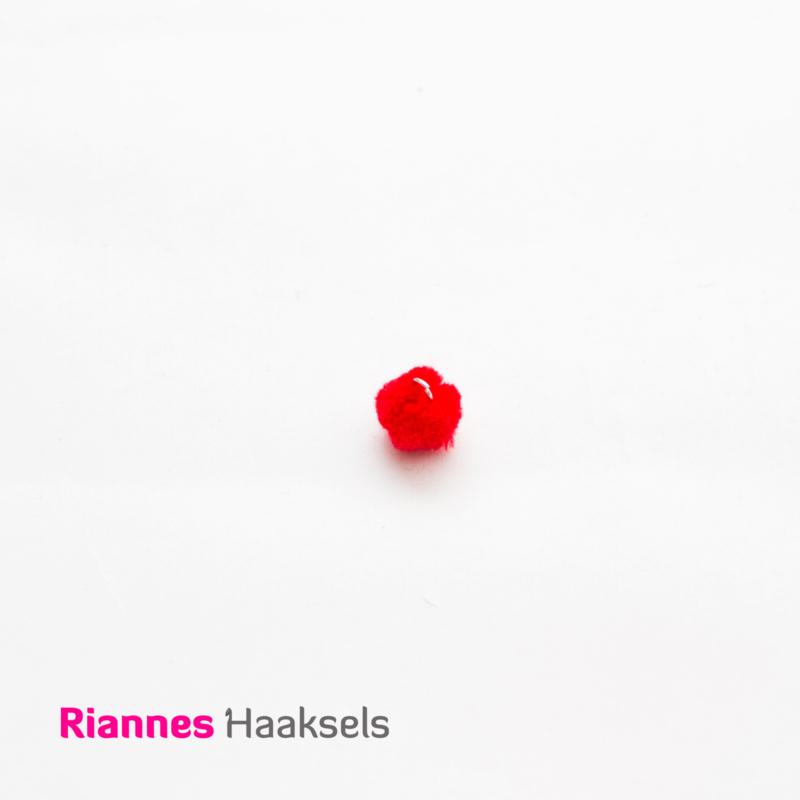Mini pompon rood - 170316