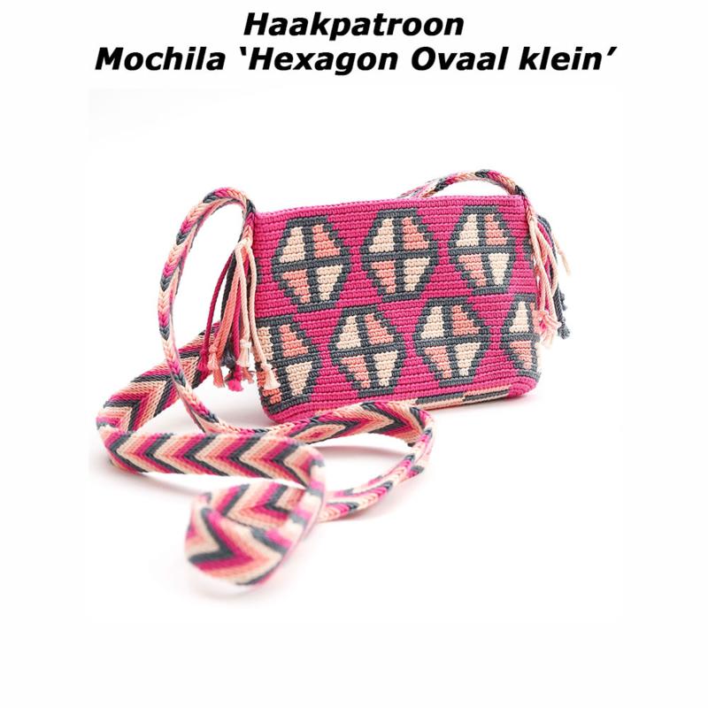 Haakpatroon Mochila 'Hexagon ovaal klein'