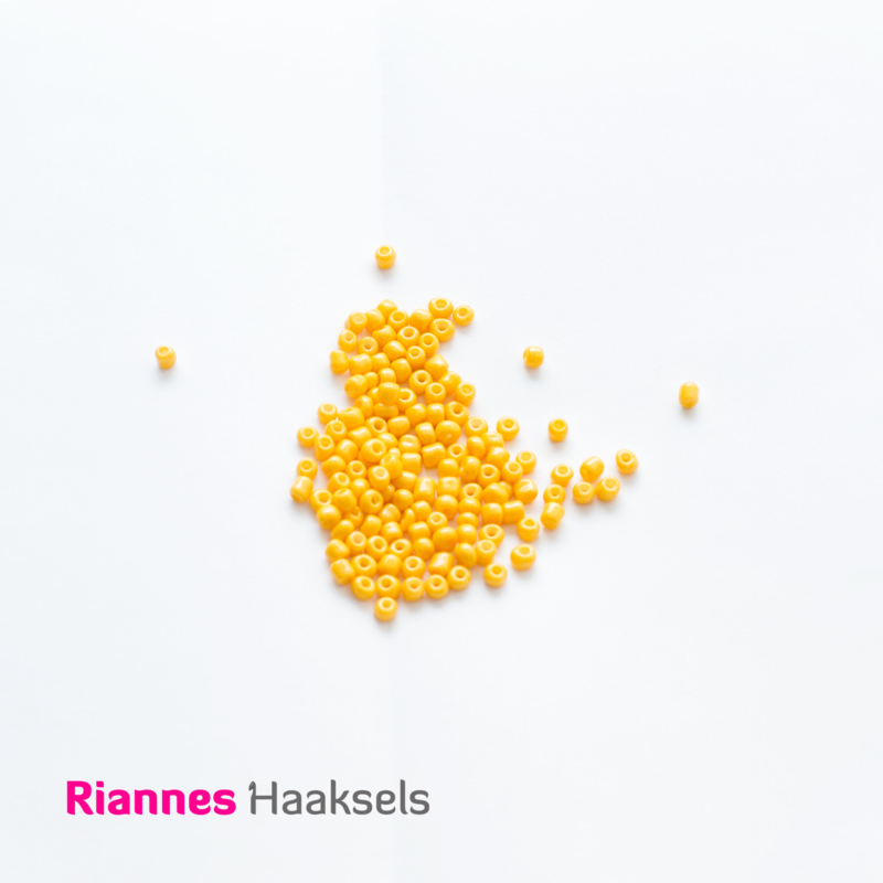 Rocailles 4 mm Warm geel - 161235