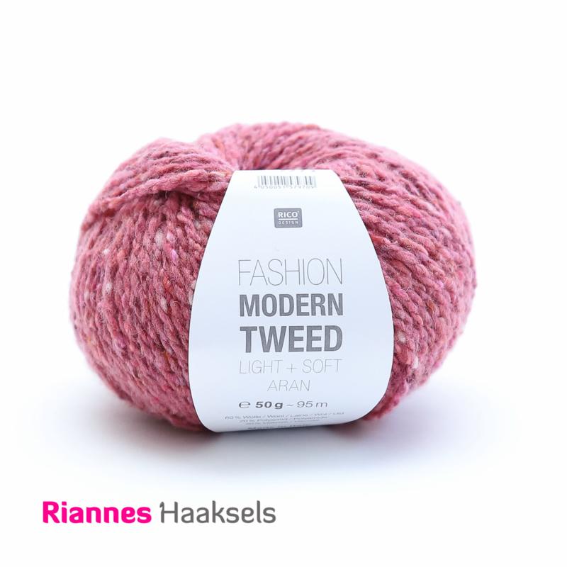 Rico Fashion Modern tweed - Roze 006
