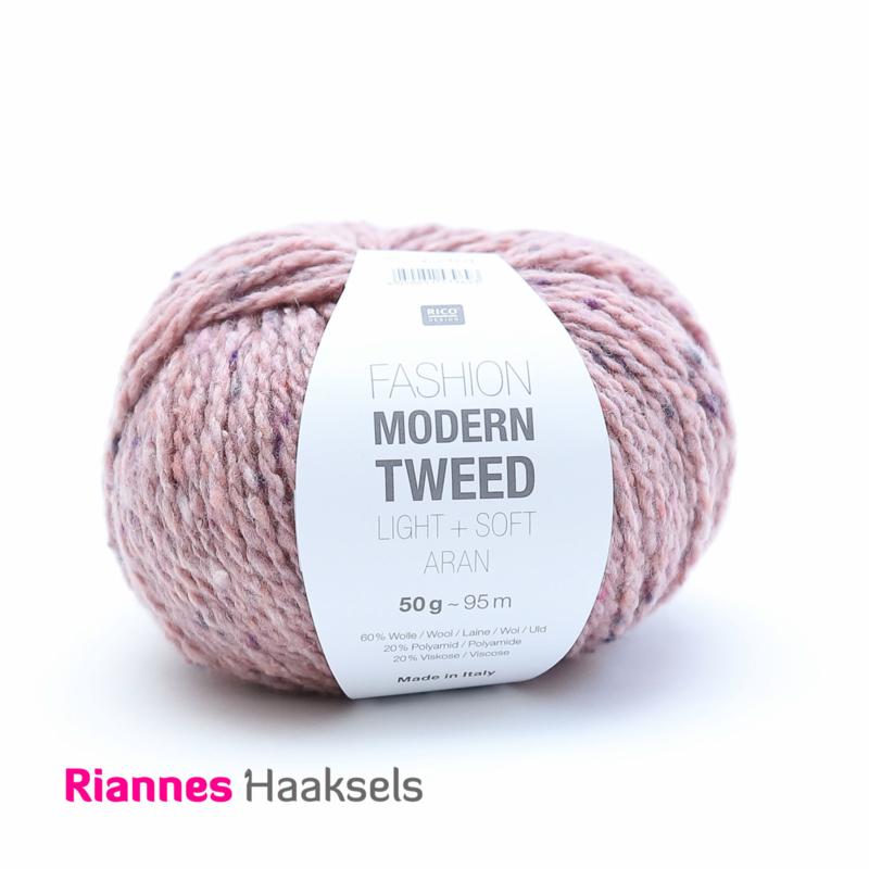 Rico Fashion Modern tweed - Oud roze 005