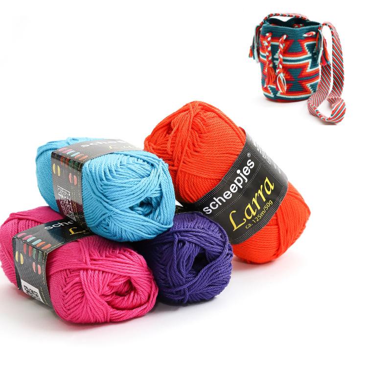 Donker paars, Cyclaam roze, Helder blauw en Oranje 'Zandloper klein'