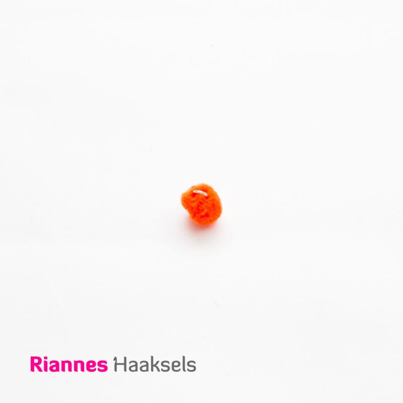 Mini pompon oranje - 170319