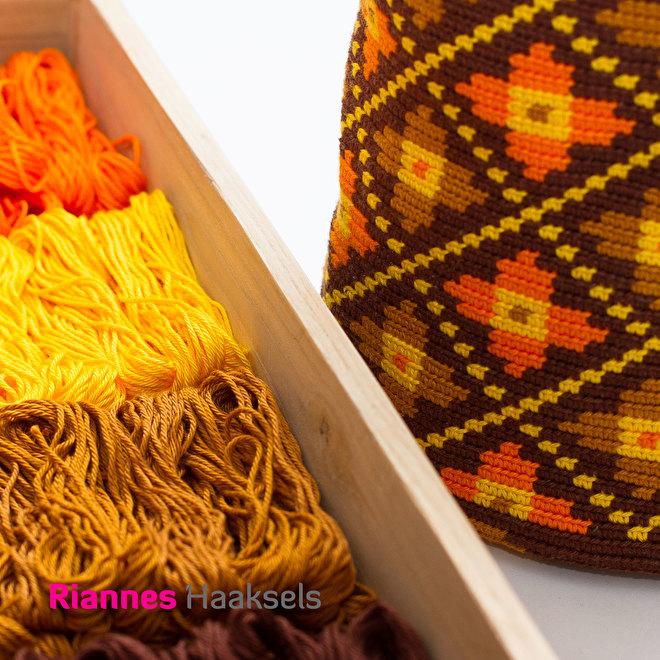 mochila bloemetjes Wayuu mochilas haken boek