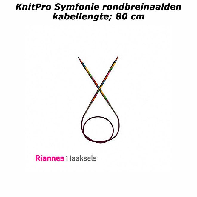 knitpro symfonie kabellengte 80 centimeter