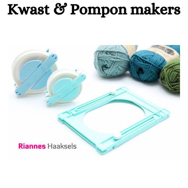 Kwast en pompon pom pon maker makers