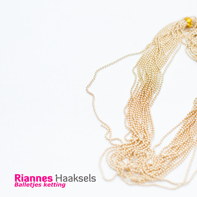 balletjes ketting, ball chain