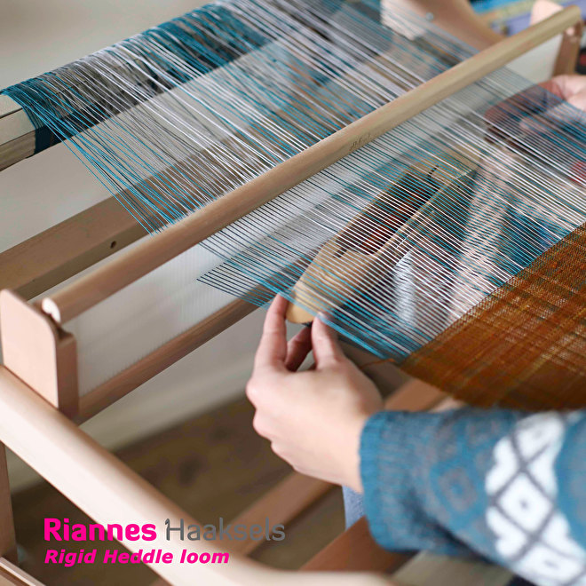 Rigid heddle loom hevelriet getouw