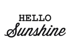 Dreams Sticker Hello Sunshine Zwart