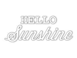 Dreams Sticker Hello Sunshine wit
