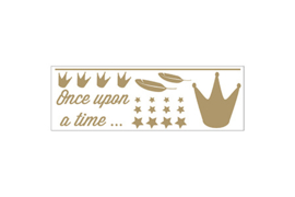 Dame Blanche Zwart Crown Sticker