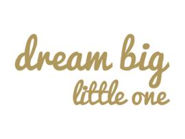 Dreams Sticker big little one Goud