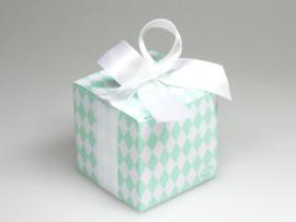 Betty nachtblauwe arlequin kubus doosje