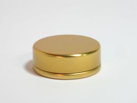 Blik doosje rond goud