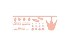 Dame Blanche Peach Crown Sticker