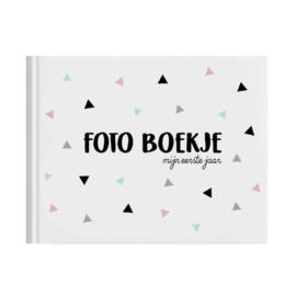 Fotoboekje eerste jaar roze mint