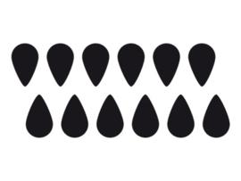 Dreams Sticker druppels Zwart