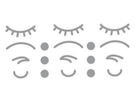 Dreams Sticker iconen gezicht Zilver