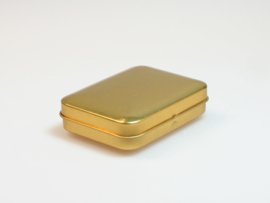 Blik doosje rechthoek goud