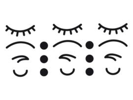 Dreams Sticker iconen gezicht Zwart