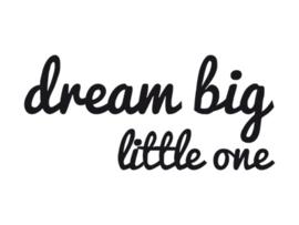 Dreams Sticker big little one Zwart