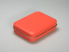 Blik doosje rechthoek oranje