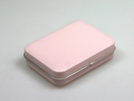 Blik doosje rechthoek roze