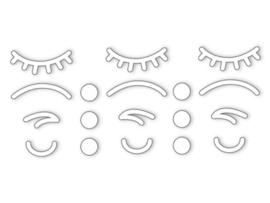 Dreams Sticker iconen gezicht wit