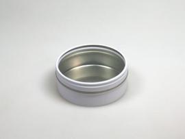 Blik rond doosje doorzichtig deksel wit