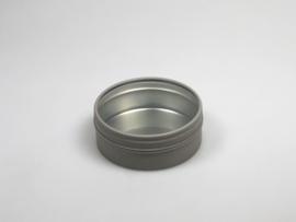 Blik rond doosje doorzichtig deksel taupe