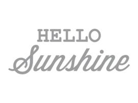 Dreams Sticker Hello Sunshine Zilver