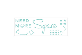 To the Moon Space Sticker Aqua
