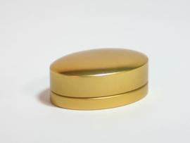 Blik doosje ovaal goud