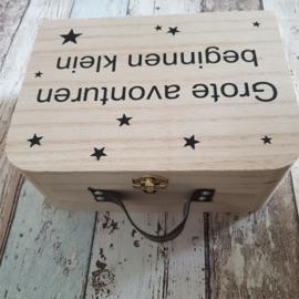 Houten koffertje