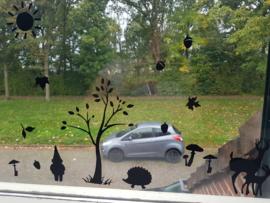 Herfst raam statische raam folie