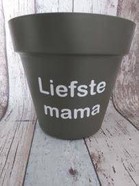 Bloempot Liefste mama/moeder