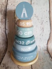 Little Dutch tuimelring met geboortegegevens