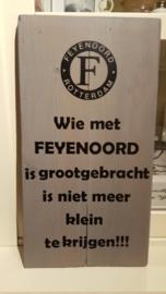 Feyenoord bord grootgebracht