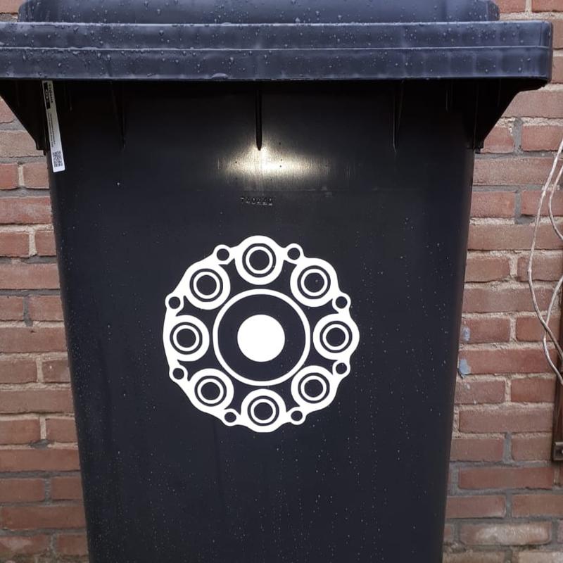 Container sticker Zeeuwse knoop