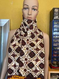 Batik Sjaal Putih Coklat