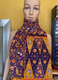 Batik Sjaal Ungu