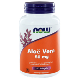 NOW Aloe Vera 50 MG 100 Softgels