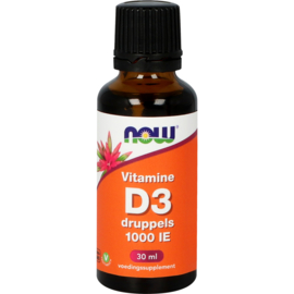 NOW Vitamine D3 druppels 1000 IE 30 ML