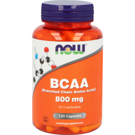 NOW BCAA (Branched Chain Amino Acids) 120 Capsules
