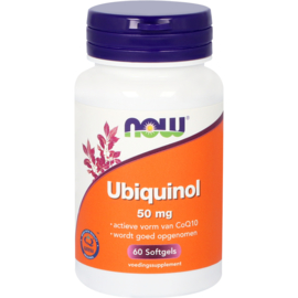 NOW Co-Q10 Ubiquinol 50 mg 60 Softgels